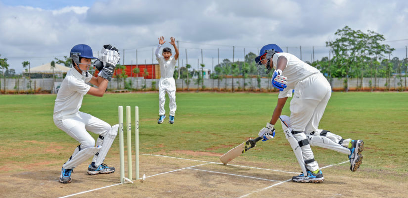 A Bowling Machine at ICC Global Cricket Academy